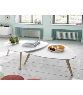 Acheter en ligne Table Basse en Bois (set de 2) : Modèle SUÈDE