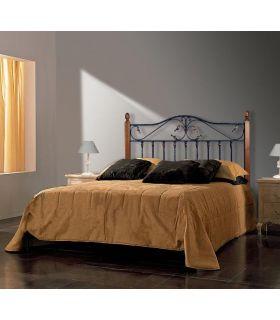 Acheter en ligne Têtes de lit en fer forgé et bois: modèle AFRIQUE III.