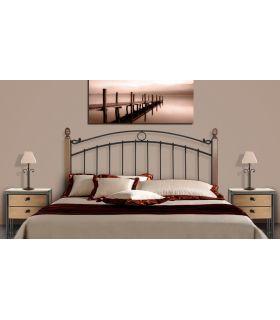 Acheter en ligne Têtes de lit en fer forgé et bois: modèle SOFIA.