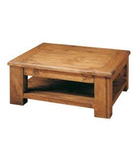 Acheter en ligne Table Basse en Bois Naturel : Modèle GRANELLA