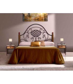 Acheter en ligne Têtes de lit en fer forgé et bois: modèle VERONICA.