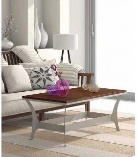 Acheter en ligne Table basse en fer forgé et bois : Collection OSLO RYS