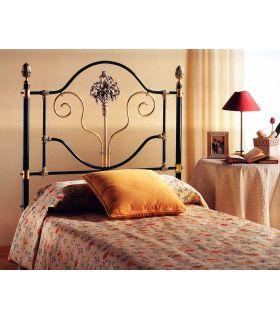 Acheter en ligne Lits et têtes de lit en laiton et fer forgé: modèle MAZAMET.