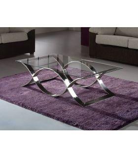 Acheter en ligne Tables basse en acier et verre : modèle TIME.