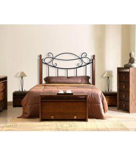 Acheter en ligne Têtes de lit en fer forgé et bois: modèle ARIES.