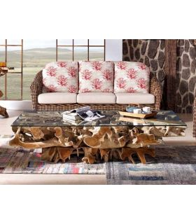 Acheter en ligne Tables Basses en Racines : Collection NAGA Rectangulaire