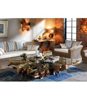 Acheter en ligne Tables Basses de Racines : Collection NAGA Carrée