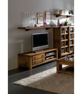 Acheter en ligne Tables TV en Bois Naturel : Collection MINSTER