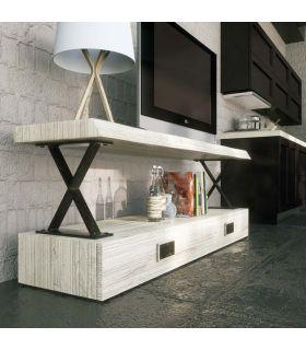 Acheter en ligne Table TV en bois et métal : Modèle XAIT