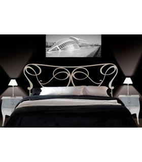 Acheter en ligne Têtes de lit en fer forgé: modèle DONA.