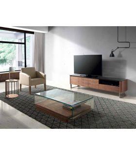Acheter en ligne Table TV design en bois : Modèle TRACER