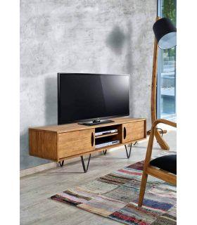 Acheter en ligne Tables TV en Bois Recyclé : Modèle LOKKEN