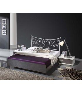 Acheter en ligne Têtes de lit en fer forgé: modèle JUDITH.