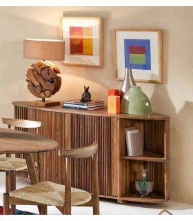 Acheter en ligne Meubles Buffet en Teck : Modèle CLARINTA