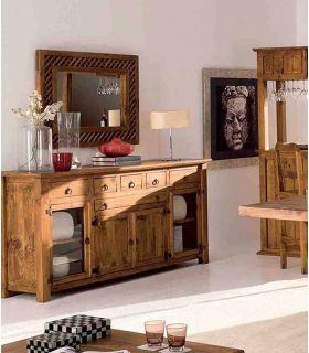 Acheter en ligne Meubles Buffet de Salon Séjour en Bois : Collection MINSTER