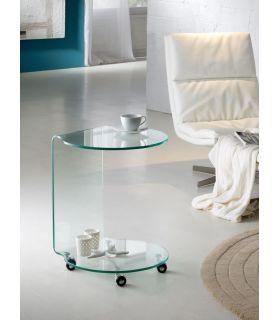 Acheter en ligne Tables d?appoint à Roues : Collection GLASS