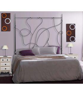 Acheter en ligne Têtes de lit en fer forgé: modèle ASIE.