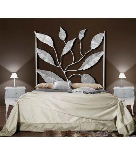 Acheter en ligne Têtes de lit en fer forgé: modèle FEUILLES.