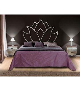 Acheter en ligne Têtes de lit en fer forgé: modèle FLEUR DE LOTUS.