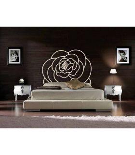 Acheter en ligne Têtes de lit en fer forgé: modèle FLEUR.