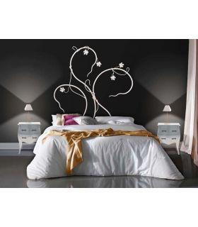Acheter en ligne Têtes de lit en fer forgé: modèle UNE FEUILLE D'ÉRABLE.
