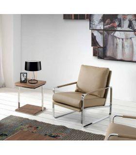 Acheter en ligne Table d'appoint en bois et métal : Modèle SALONIA