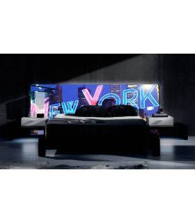 Acheter en ligne Têtes de lit rétroéclairés: modèle NEW YORK.