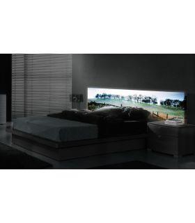 Acheter en ligne Têtes de lit rétroéclairés: modèle L'ÉCOSSE.