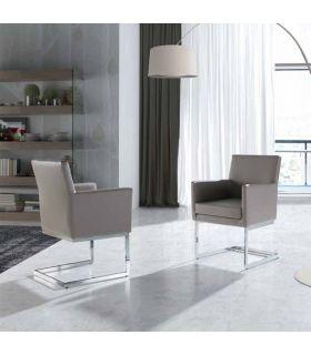 Acheter en ligne Fauteuil en simili-cuir et acier : Modèle BZ090