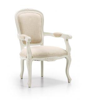 Acheter en ligne Fauteuil tapissier : Collection ANTONIETA Blanc