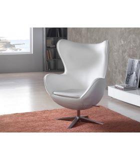 Acheter en ligne Fauteuil moderne : Collection EGG BLANC