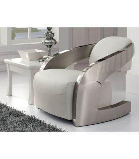 Acheter en ligne Fauteuil en acier et simili-cuir : Modèle AMANDA