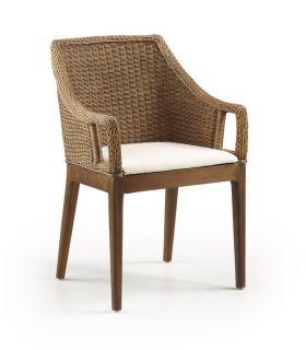 Acheter en ligne Chaise rustique en rotin : Modèle NEW INDIA