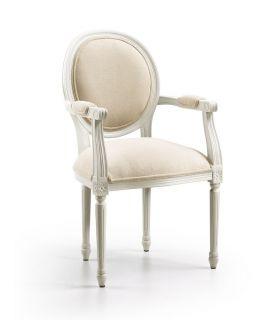 Acheter en ligne Fauteuil tapissier : Collection ANTONIETA Blanc Antique