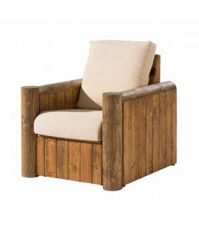 Acheter en ligne Fauteuils en Bois : Collection TRONC (1 Place)