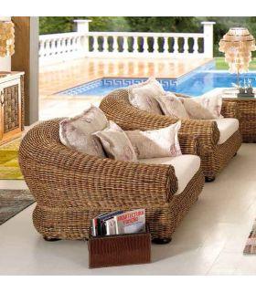 Acheter en ligne Fauteuils en Rotin pour Salons : Collection TARA